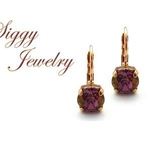 Swarovski® Crystal Earrings, Lilac Shadow Drops